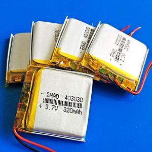 rpbll 3.7 V 320 mAh lipo polymère Batterie Rechargeable au Lithium 403030 pour MP3 MP4 GPS DVD enregistreur Bluetooth Casque e-Book caméra-5 pièces