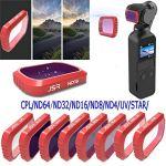 VVVVANKER pour DJI OSMO Pocket CPL/UV/STAR/ND4/ND8/ND16/ND32/ND64 filtres de lentille de la caméra-ND64