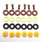 6sets injecteur de carburant Réparation Kit 0280150440 13641703819 for BMW E60 520i E39 523i 525i 528i E36 328i E36 voiture remplacement AY-RK004