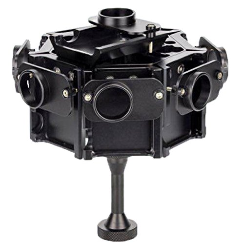 8 en 1 boîtier en Alliage d'aluminium CNC Shell Cage de Protection avec vis for GoPro HERO4 / 3 +, Compatible avec Les caméras d'action (Color : Black)