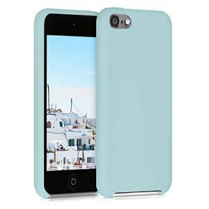 kwmobile Étui Compatible avec Apple iPod Touch 6G / 7G (6ème et 7ème génération) – Coque Protection en Silicone pour Lecteur MP3 Menthe Mat
