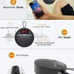 Radio de Douche Bluetooth 5.0 Haut-Parleur de Douche.10 Heures de Lecture (Batterie 1000 mAH), Haut-Parleur Portable étanche, Mains Libres, réveil, Rechargeable Via Micro USB