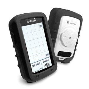 Tuff-Luv Étui de protection en silicone et protecteur d'écran pour Garmin Edge Explore 820 GPS – Noir