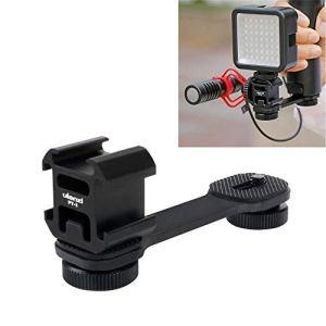 Ulanzi Griffe de support 3en 1 pour microphone cardioïde BY-MM1 et projecteur LED – Compatible avec stabilisateur Zhiyun Smooth 4