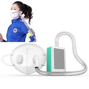 WFWPY Rechargeable Purificateur d'air Respirateur Portable Filtre à air réutilisable avec filtres à Charbon Actif avec Tube en Silicone fileté 2600mAh Recharge USB pour Le Sport et Le Fitness