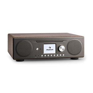 Auna Connect CD • Radio Internet numérique • WiFi • Bluetooth • Dab/Dab+/FM RDS • Arrêt Automatique • Spotify • AUX • 10 mémoires • CD MP3 • USB • TFT Couleur (2,8″) • Noisette