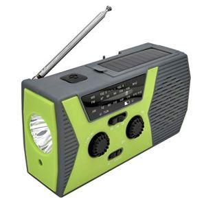 CiriQQ Chargeur de téléphone portable à manivelle solaire de secours pour radio de téléphone portable