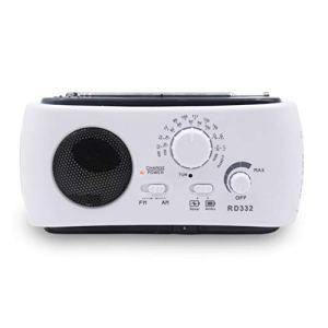 CiriQQ Portable Multifonction Manivelle Radio Urgence Téléphone Chargeur Solaire Auto-Alimenté Lampe de Poche LED Lampe de Lecture SOS Alarme Extérieur