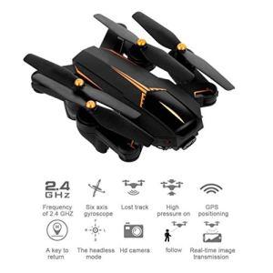 Drone Pliant avec caméra vidéo en Direct GPS RC 5.0 MP HD 1080P caméra 5G WiFi FPV Altitude Tenir Un Retour clé Suivez-Moi pour Les débutants