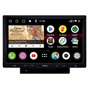 [Écran QLED 10 Pouces] ATOTO S8 Premium S8G2103M,Navigation vidéo intégré au Tableau de Bord Android,Double BT avec aptX, Lien d'intégration téléphonique,Parking VSV,Soutenir SD 512Go,