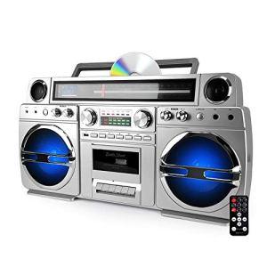 Ghetto-Blaster Portable Bluetooth avec Lecteur CD/Cassette – 60W – USB – Battle-Street