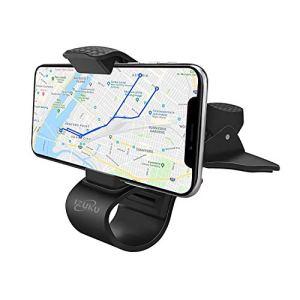 IZUKU Support Telephone Voiture Universel Portable, Support Téléphone Voiture Tableau de Bord [Garantie à Vie] pour Smartphone et d'Autre Appareils