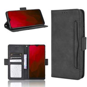 JARNING Coque pour ZTE Blade A7 2020,Multi-Carte Portefeuille Cuir Etui avec Fermeture magnétique Carte Fentes Fonction de Support Flip Case (Noir)