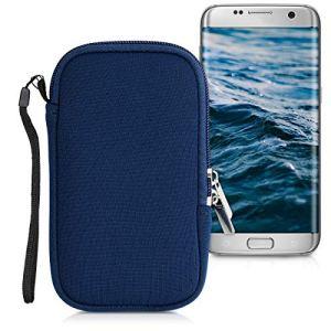 kwmobile Housse de Protection pour Smartphone L – 6,5″ – Sacoche de Protection pour Téléphone Portable en Néoprène Bleu foncé