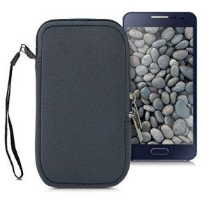kwmobile Housse de Protection pour Smartphone L – 6,5″ – Sacoche de Protection pour Téléphone Portable en Néoprène Gris