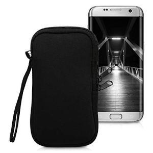 kwmobile Housse de Protection pour Smartphone L – 6,5″ – Sacoche de Protection pour Téléphone Portable en Néoprène Noir