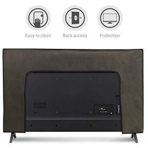 kwmobile Housse écran Ordinateur Compatible avec 49-50″ TV – Gris foncé