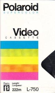 Polaroid L-750Beta vidéo cassette