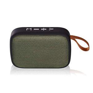 Raidos, Haut-Parleur Bluetooth 4.2, Haut-Parleur Bluetooth Portable extérieur, Haut-Parleur sans Fil cylindrique, Musique stéréo Surround, Support FM Tfcard stéréo Hi-FI Boxe, Bleu