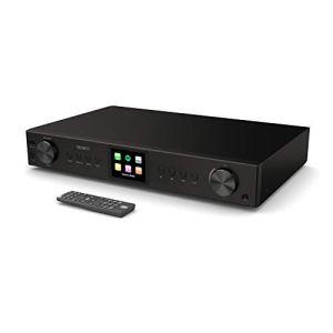 Syntoniseur Hi-FI Majority Fitzwilliam 2 – Radio numérique Dab/Dab + / Internet – Spotify Connect – Bluetooth – Télécommande – USB et AUX – Optique, coaxial et Sortie Ligne – Écran Couleur (Noir)