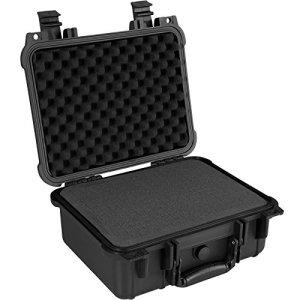 TecTake Valise Etanche pour Appareil Photo Coffret de Protection Universel Caméra + 3 Mousses Noir – Diverses Tailles – (Type 2 | n° 402870)