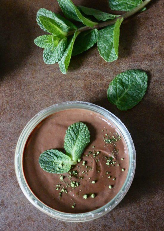 crème végétale matcha menthe chocolat, sans lactose, IG bas