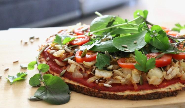 pizza pâte de chou fleur légumes IG bas léger