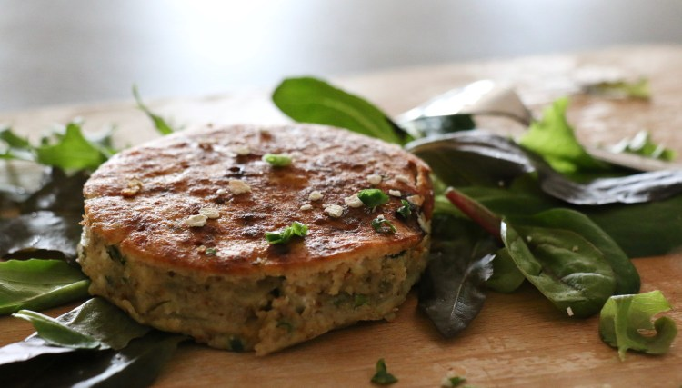 Galette végétarienne de flocons de sarrasin IG bas feta