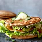 Sandwich blinis au sarrasin, sans gluten , IG bas
