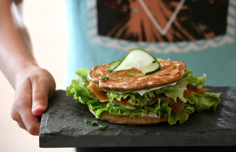 sandwich blinis au sarrasin sans gluten ig bas passion. Black Bedroom Furniture Sets. Home Design Ideas