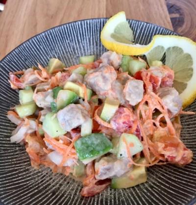Salade de thon mariné à la tahitienne