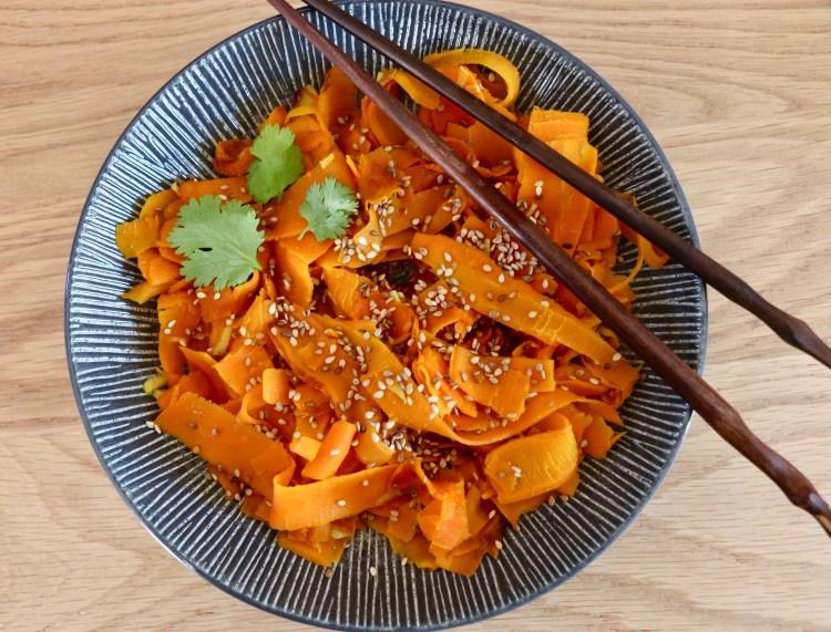 Tagliatelles de carottes