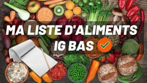 liste aliments IG bas