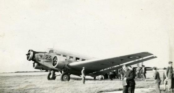 Baptême+en+Ju-52+1945+Rouen+Le+Madrillet