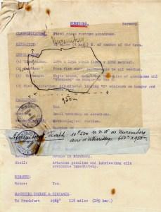 Plan de vol pour Nuremberg ©Alain Bétrancourt