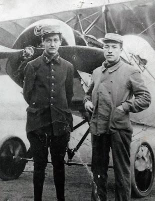 Georges Guynemer et le soldat Charles Guerder