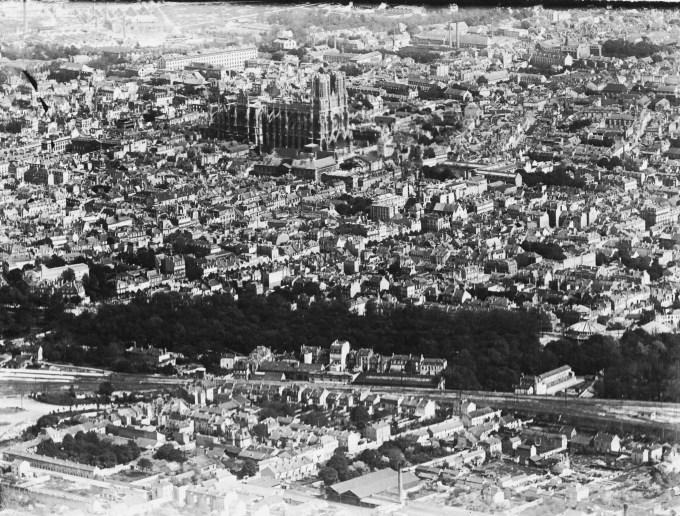 Vue Aérienne de REIMS ENTRE 1914 et 1918