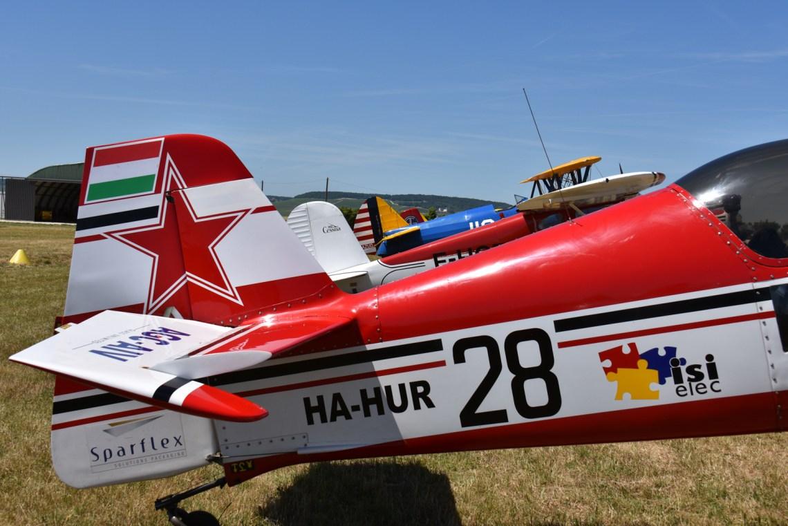 Quelques avions présents au meeting d'Epernay 2015 ©Xavier Cotton