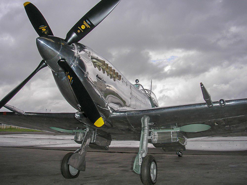 Modèle au 1/3 d'un Supermarine Spitfire MK IX C réalisé par Jean-Pierre Cousinet ©Jean-Pierre Cousinet
