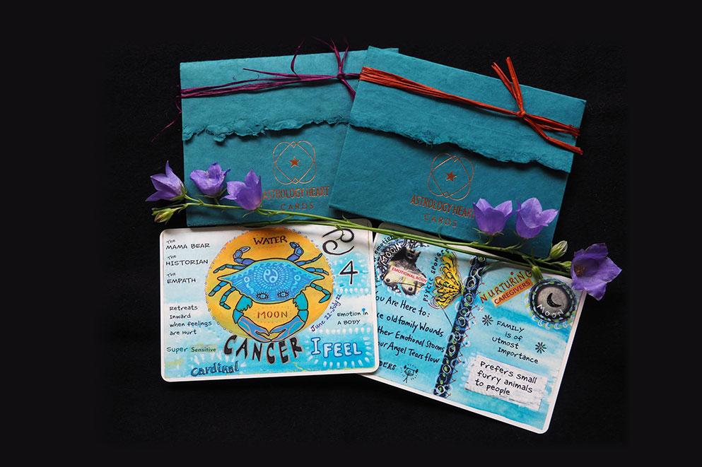 Celestial Art Cards - Inside