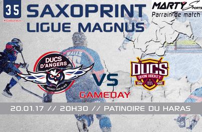 Ligue Magnus (35e journée) : Présentation du match entre Angers et Dijon (20h30).
