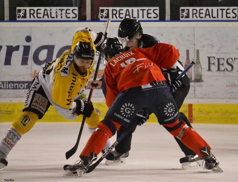 Ligue Magnus (1/4 finale) : Rouen remporte la première manche face à Angers (6-5).