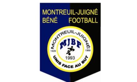 D2 (11e journée) : L'équipe Montreuillaise renoue avec la victoire face Marans-Géné (2-0).