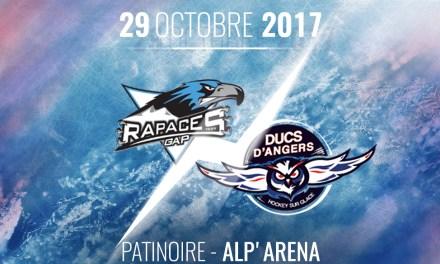 Ligue Magnus (17e journée) : Les Ducs d'Angers chez les Rapaces de Gap, ce dimanche à 18h30 !