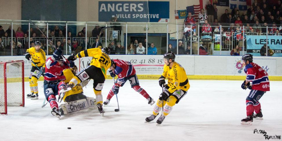 Ligue Magnus (34e journée) : Derby de haute volée, remporté par Rouen aux dépens d'Angers (4-4, tab. : 0-1).