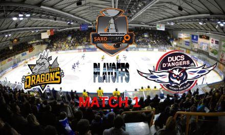Play-offs (1/4 de finale / Match 1) : Angers se déplace à Rouen pour le début de la série !