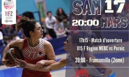 NF2 (19ème journée) : Mûrs-Érigné est toujours dans la course aux play-offs contre Franconville.