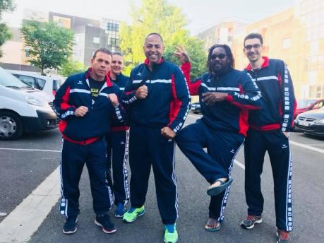 L'équipe du club de l'American Boxing Club d'Angers.