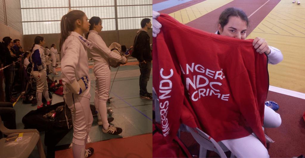Cécile (à gauche) et Camille (à droite) préparent leur match chacune à leur manière