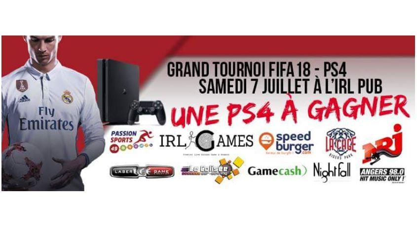 Same Blood E-Sport organise un tournoi de jeu vidéo de football virtuel FIFA 18 sur Playstation 4.